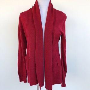 Soft Surroundings Wool Blend Knit Topper Cardigan